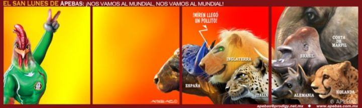 Así recibirán las grandes potencias a la selección. Imagen tomada de http://www.apebas.com.mx/