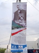 En las calles de Querétaro luce la imagen de Victoriano Huerta , a quienes los revolucionarios llamaron usurpador