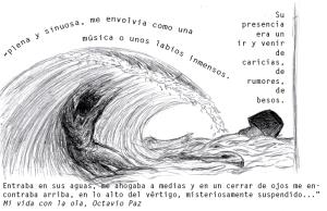 Mi vida con la ola de Octavio Paz. Ilustración de Aurora Vizcaíno
