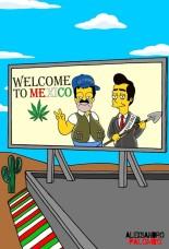 Hasta al estilo Simpson ha sido caricaturizada la fuga del Chapo