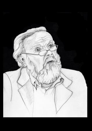 Ilustración: Dibujo a Lápiz y tinta de H.G.V. -26/09/2015 - LERG - 22x30 cm