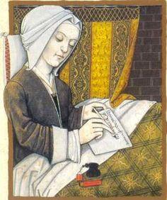 En la imagen, Mechthild de Magdeburg monja del convento de Helfta