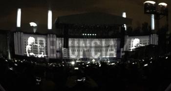 La frase Renuncia Ya se pudo leer en los tres conciertos de Roger Waters, fundador de Pink Floyd