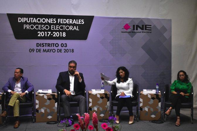 Debate entre aspirantes a la diputación del distrito 03 federal en Querétaro